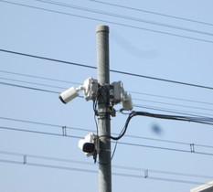 千葉市花見川区大型マンションに防犯カメラ設置
