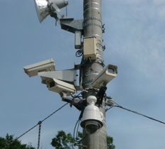 栃木県大田原市の採石場に防犯カメラ設置
