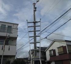 東京都葛飾区の運送会社の車庫に防犯カメラ設置