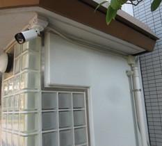 千葉県白井市のマンションに防犯カメラ9台設置