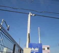 東京都足立区の運送会社車庫に防犯カメラ設置