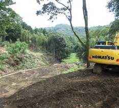 神奈川県某所の土砂集積所に監視カメラ設置