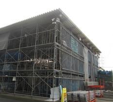 埼玉県狭山市の建設資材置き場に防犯・監視カメラ設置