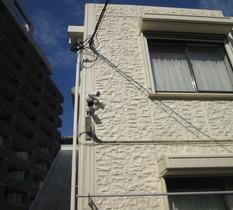 東京都渋谷区のアパートに防犯カメラ設置