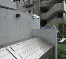 東京都三鷹市のマンションに防犯カメラ設置