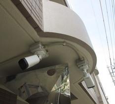 川崎市宮前区のマンションに防犯カメラ設置